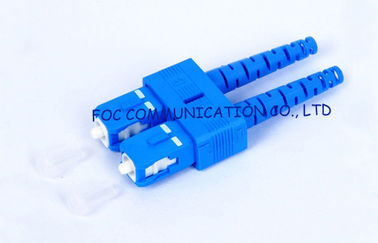 buy SC SM 9 / 125um 3.0mm duplex fiber optic connector For WAN And LAN online manufacturer