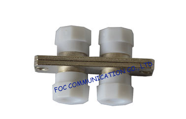China FC Duplex Fiber Optic Adapter with White Cap Low Insertion Loss For Telecom distributor
