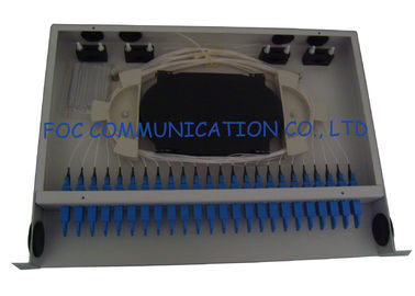 China 24Port E2000 Fiber Optic Patch Panel Full Loaded Adapters And Pigtails For Telecom distributor