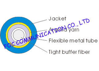 China Single Mode Simplex 2.0mm Optical Fiber Cable , Ftth / Lan outdoor Armored Fiber Optic Cable distributor