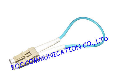 China LC / UPC OM3 Loopbacks Telecommunication Fiber Optical Patch Cord Cutomized factory