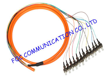 China Bundle Fan Out Fiber Optic Pigtail Multimode FC 12Cores For Fiber Networks factory