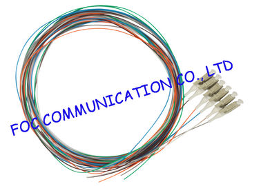 China 12 Colors Fiber Optic Pigtail multimode LC UPC For ODF and Patch Panel distributor