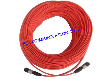 China LSZH Fiber Optic Patch Cord High Density Multifibre Female To Female MTP / MPO factory