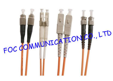 China Multimode Fiber Optic Patch Cord FC LC SC ST OM1 OM2 OM3 OM4 factory