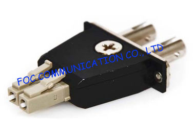 China Hybrid Fiber Optic Adapter LC - ST Multimode Male to Female adapter distributor
