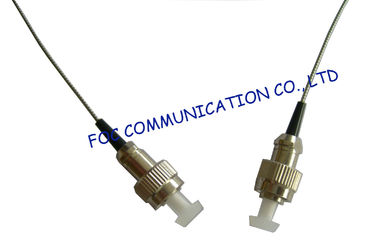 China FC / UPC 0.9mm Fiber Optic Patch Cord , Stainless Steel Tube Soft Armored Patch Cord factory