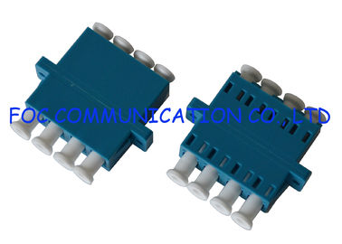 Optical Fiber Adapter LC SM Quad Low Insertion Loss Good Compatibility